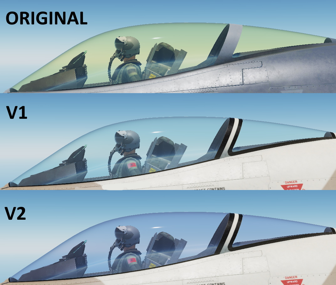 [UPDATED] Clear  F-16 canopy glass By GIZMO-VAAF
