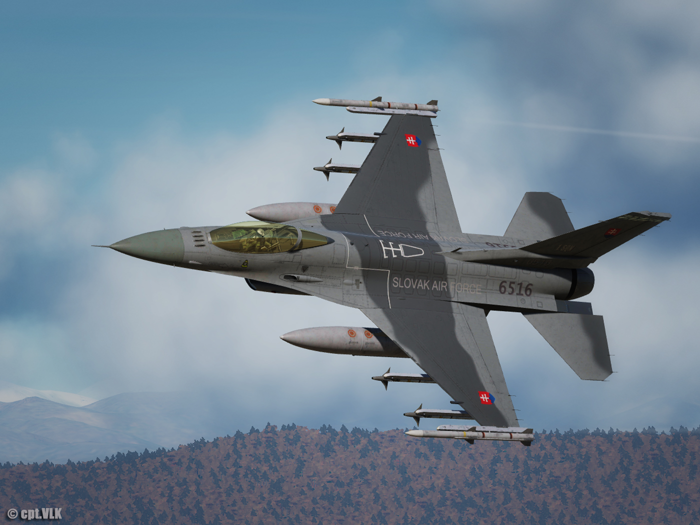 F-16C Slovak Air Force camouflage 6516