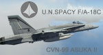 Macross Zero U.N.Spacy F/A-18C ( CVN-99 ASUKA II VMFA-324)Skin (Only use in OLD F-18)