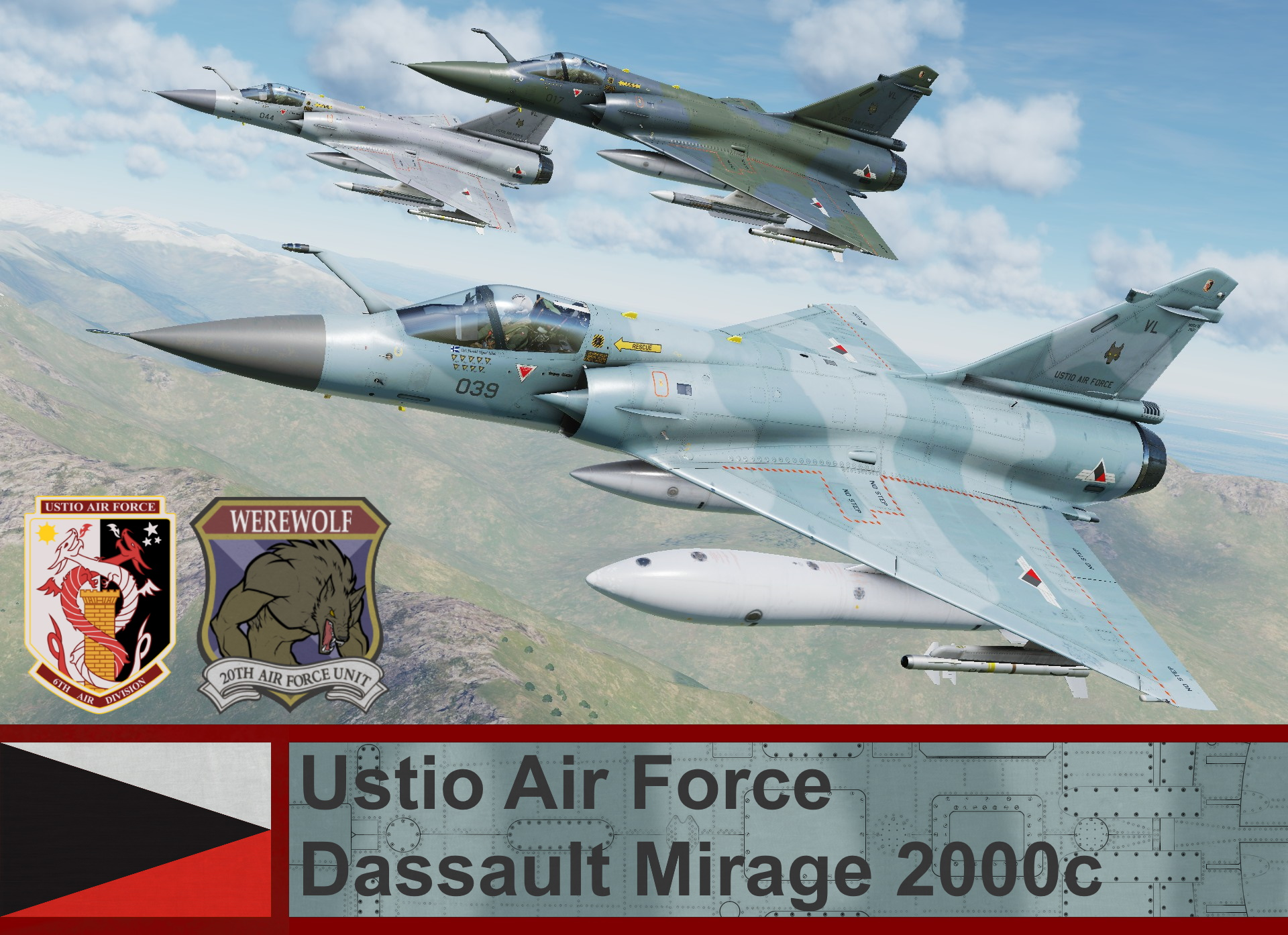 Ustio Air Force Mirage 2000C - Ace Combat Zero (20th AFU)