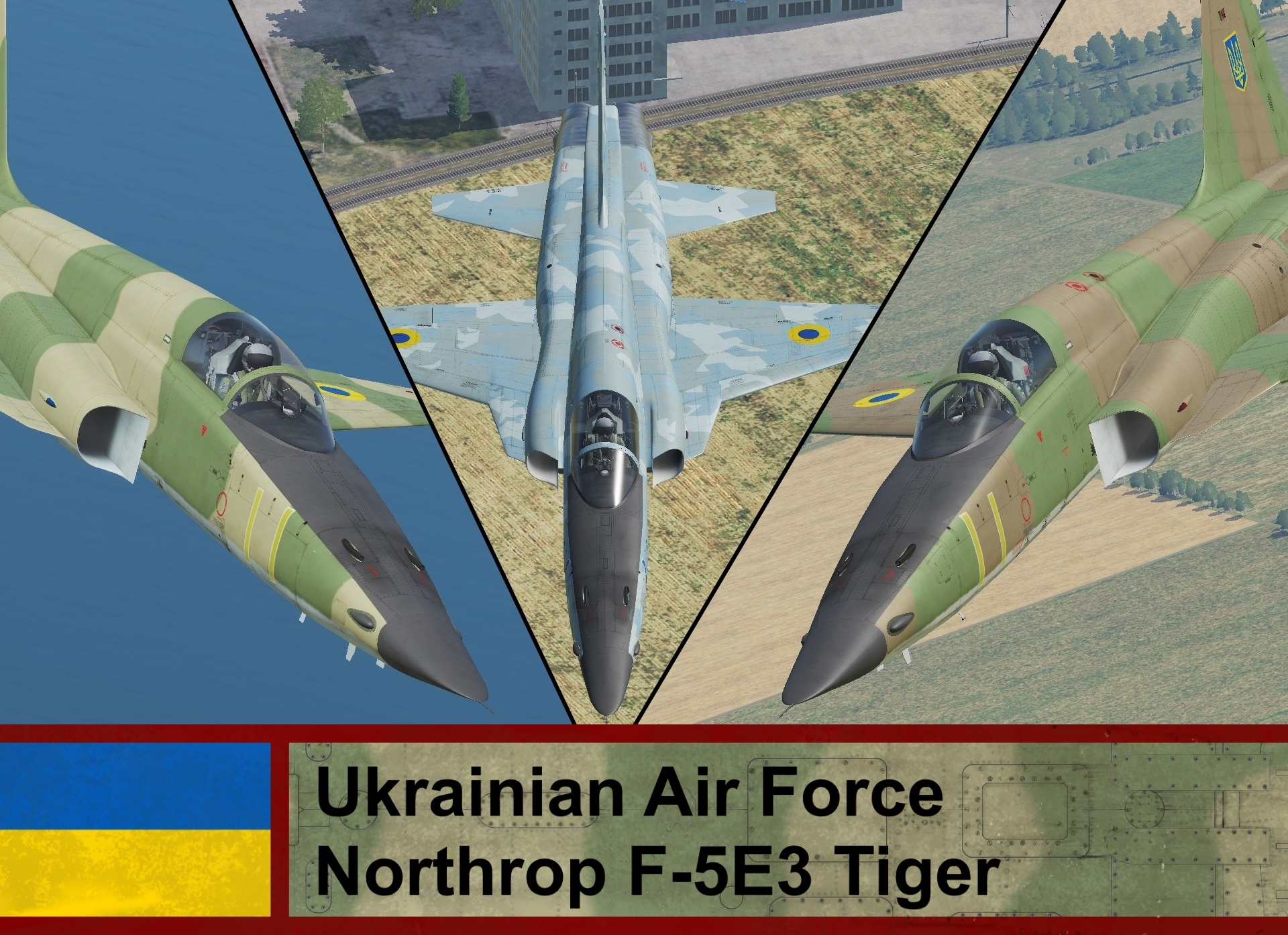 Ukrainian Air Force F-5E3 Tiger (Fictional)