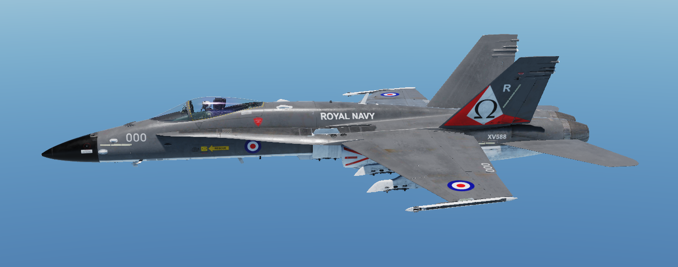 Royal Navy Phantom inspired livery from 1977
