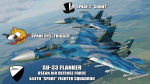 "Ace Combat - Osean Air Defense Force 444th ""Spare"" Fighter Squadron SU-33 Flanker"