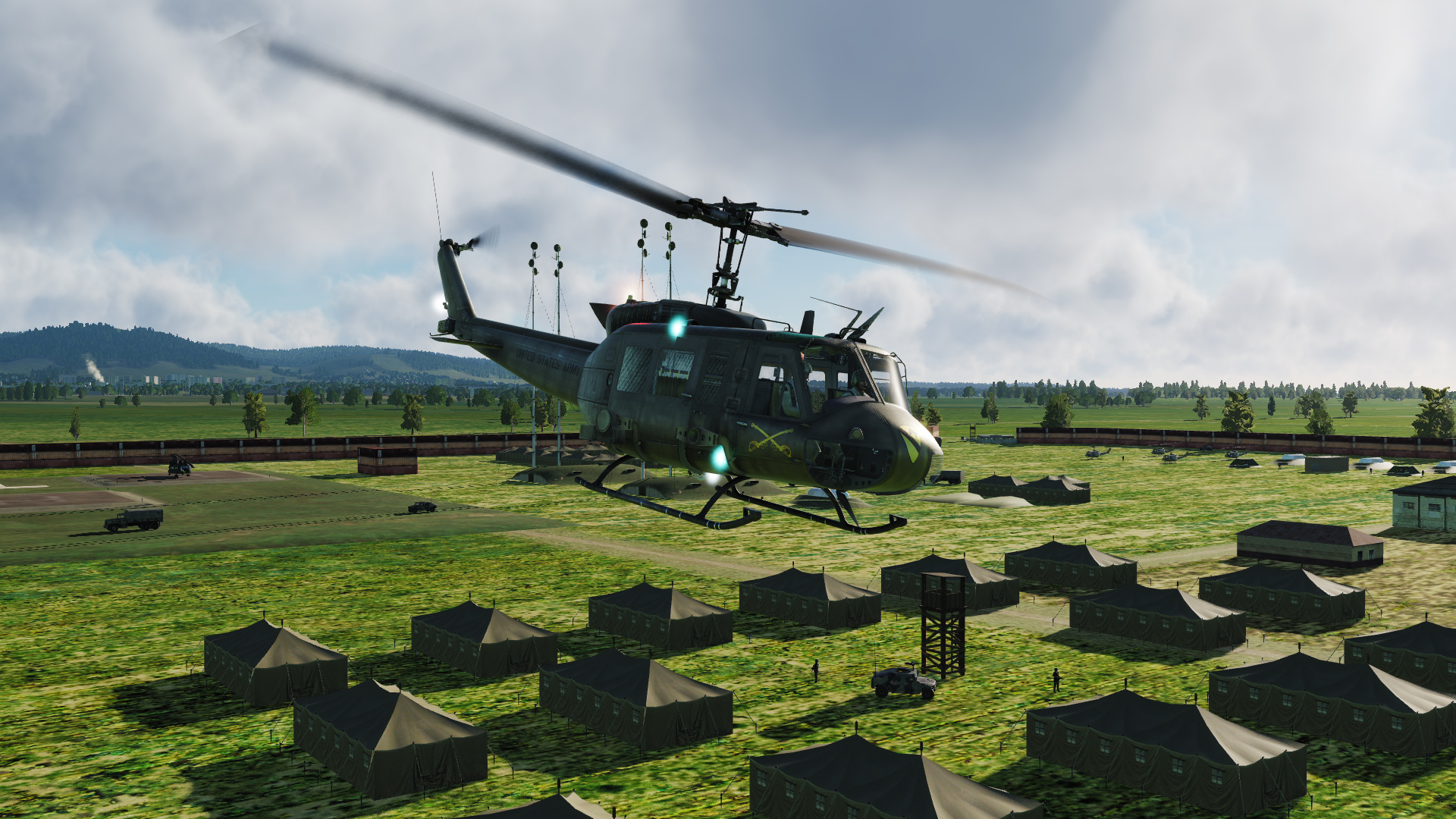FARP Hollywood 001 - Troop Extraction from Outpost 27B UH1-Huey or Mi8