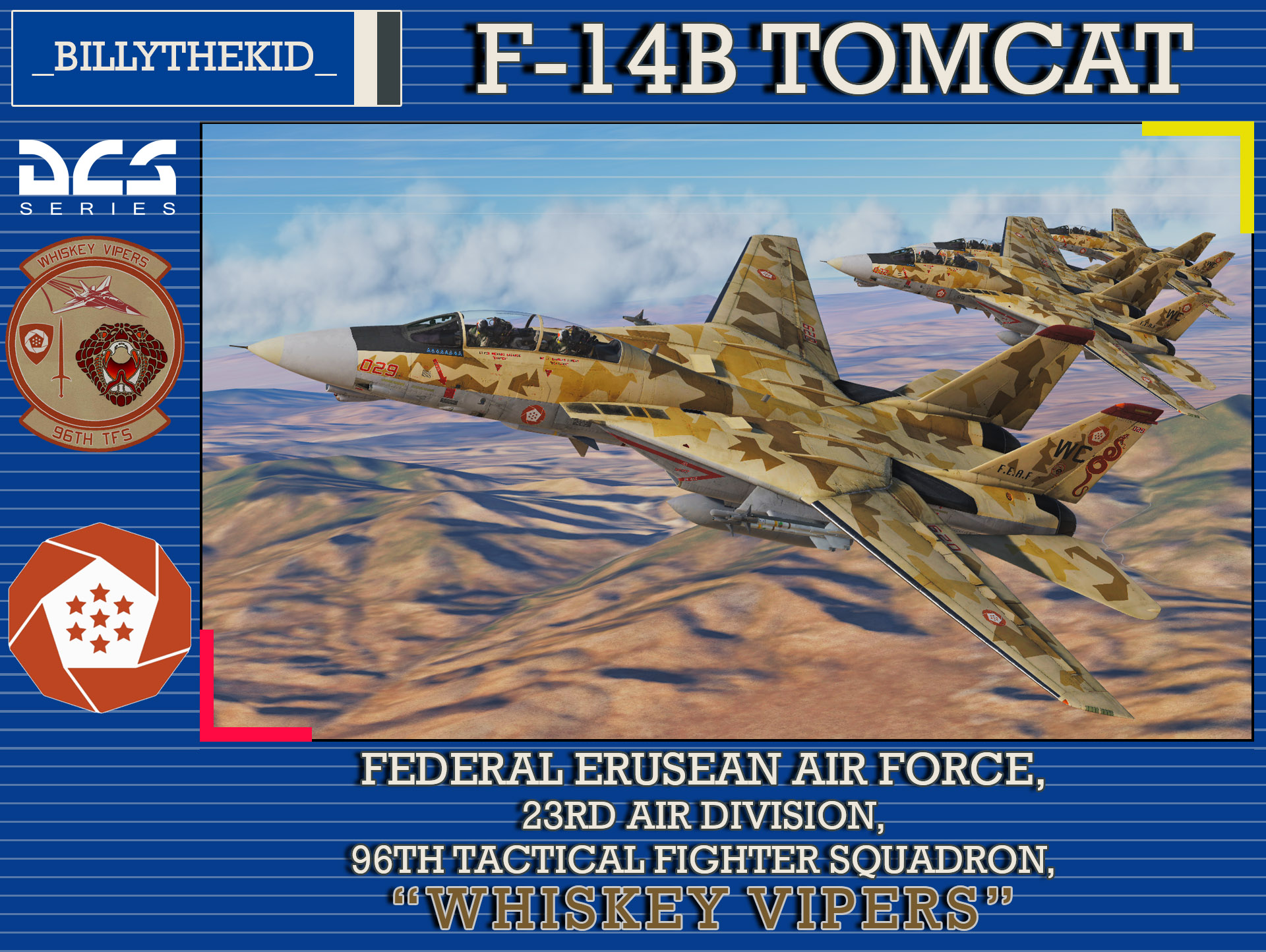 "Ace Combat - Federal Erusean Air Force - 23rd Air Division - 96th TFS ""Whiskey Vipers"" F-14B Tomcat"