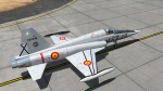 F-5 Spanish Air Force. 46 Wing. 464 Sqn. Bare metal paint scheme