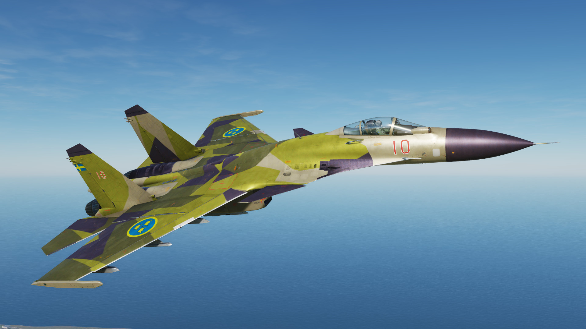 Fictional Swedish Airforce Su-33 M90 Camo