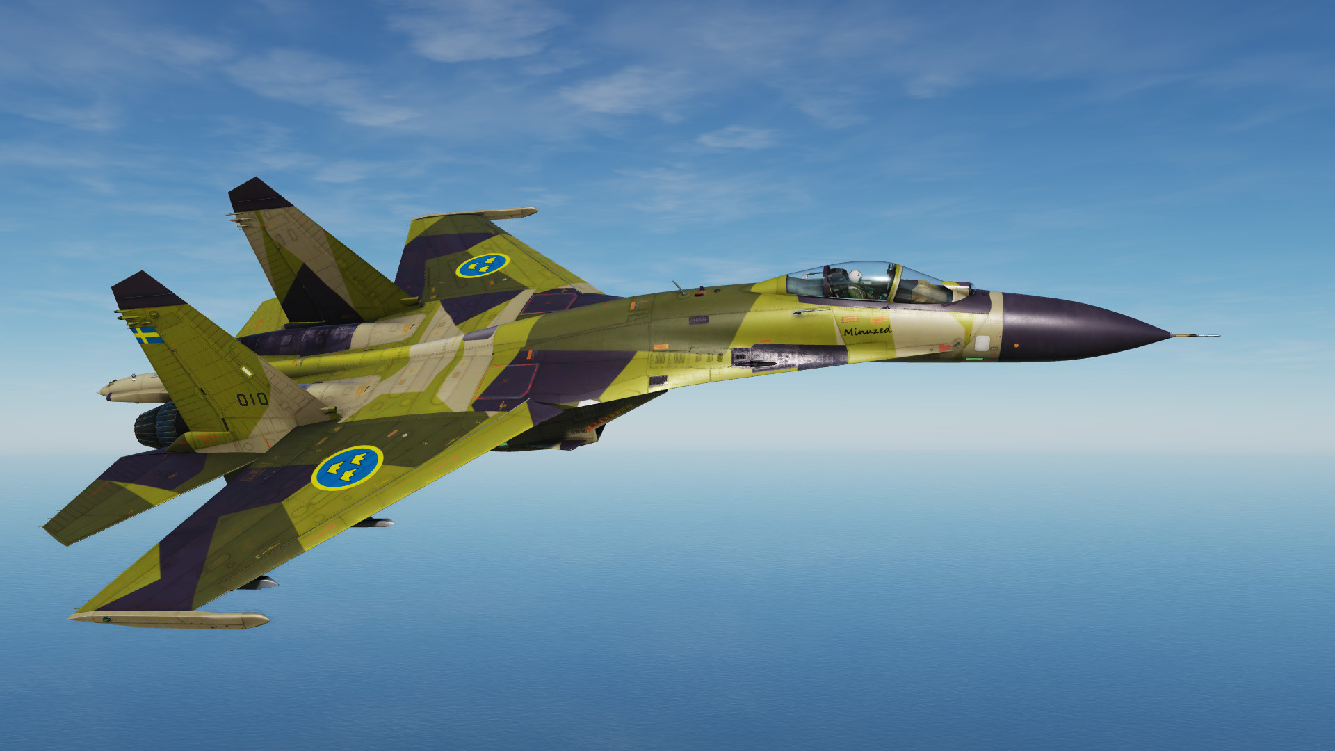 Fictional Swedish Airforce J-11A M90 Camo