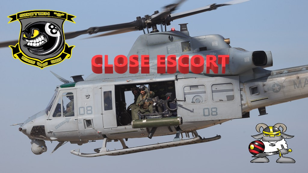 HUEY CLOSE ESCORT