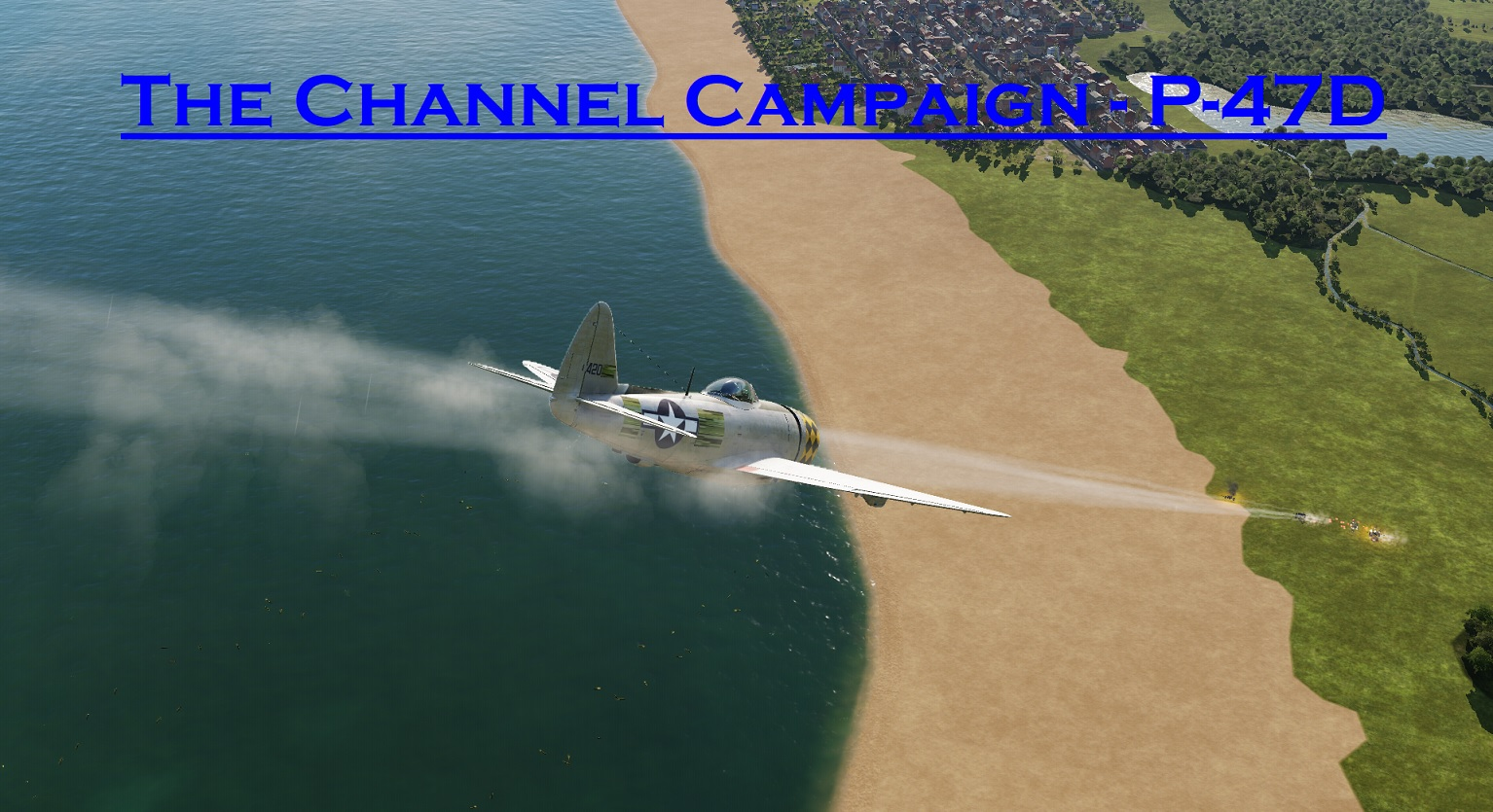 WWII The Channel P-47D using Mbot Dynamic Campaign Engine