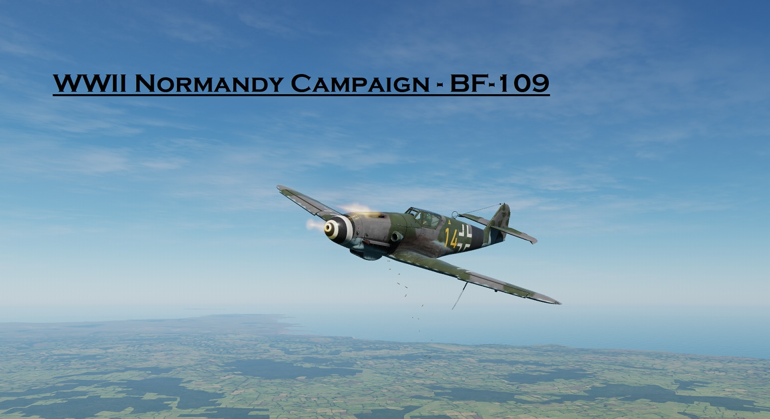 WWII Normandy BF-109 using Mbot Dynamic Campaign Engine