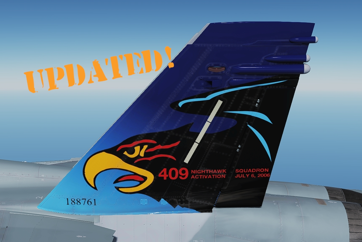 "409 Sqn ""Nightmare 01"" colour tail art"