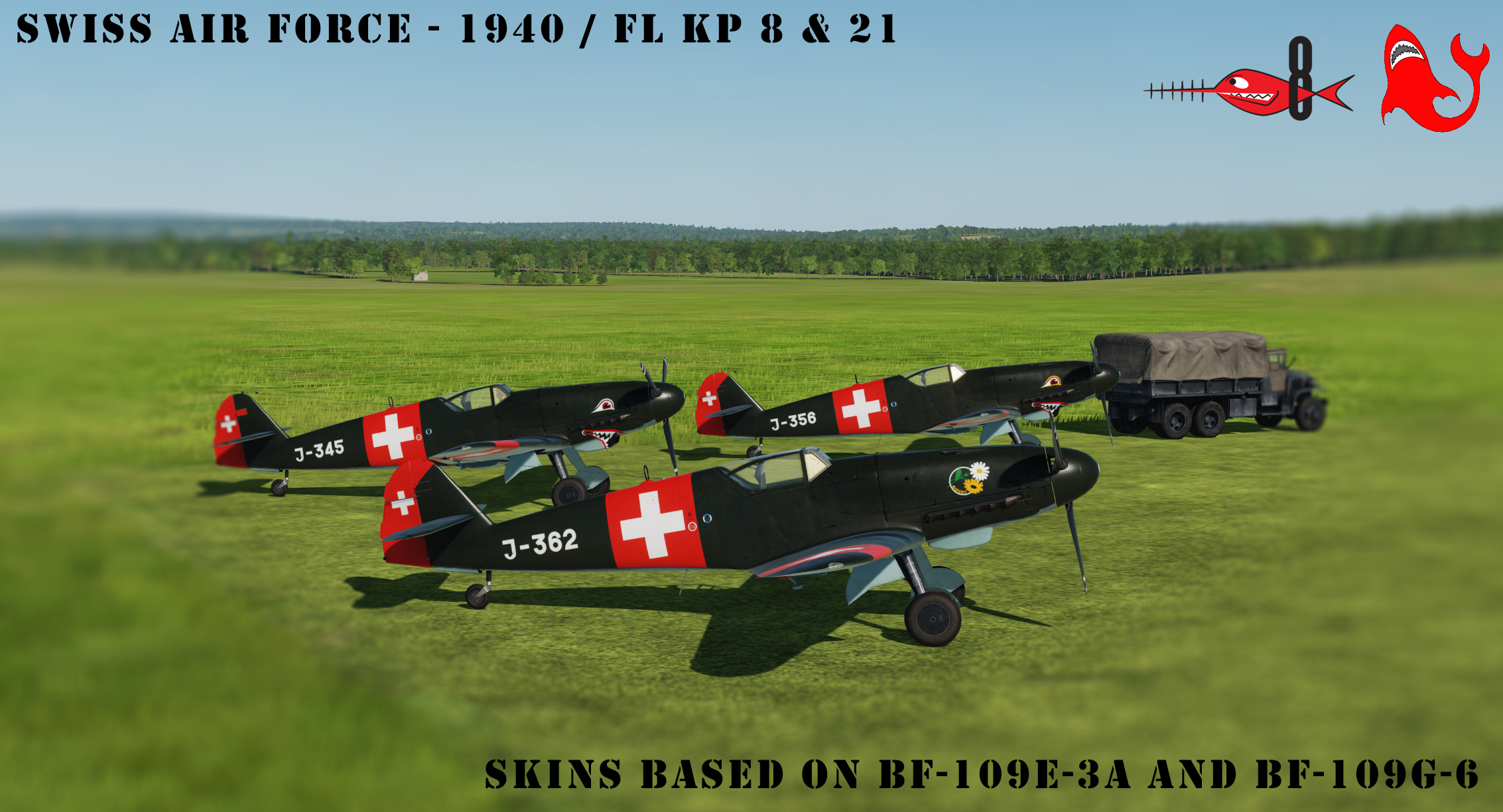 [Bf-109K-4] Swiss Air Force 1940 - Fl Kp 8 & 21