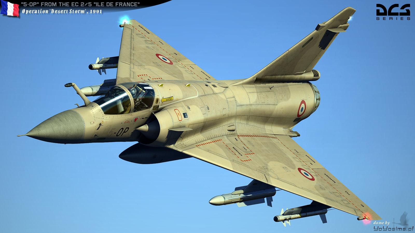 Mirage 2000c Repaint Quot 5 Op Quot Desert Storm Daguet