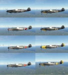Skinpack Bf-109 K-4 - 8 Liveries (Obsolete new pack link below)
