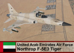 United Arab Emirates Air Force F-5E3 Tiger (Fictional) *updated
