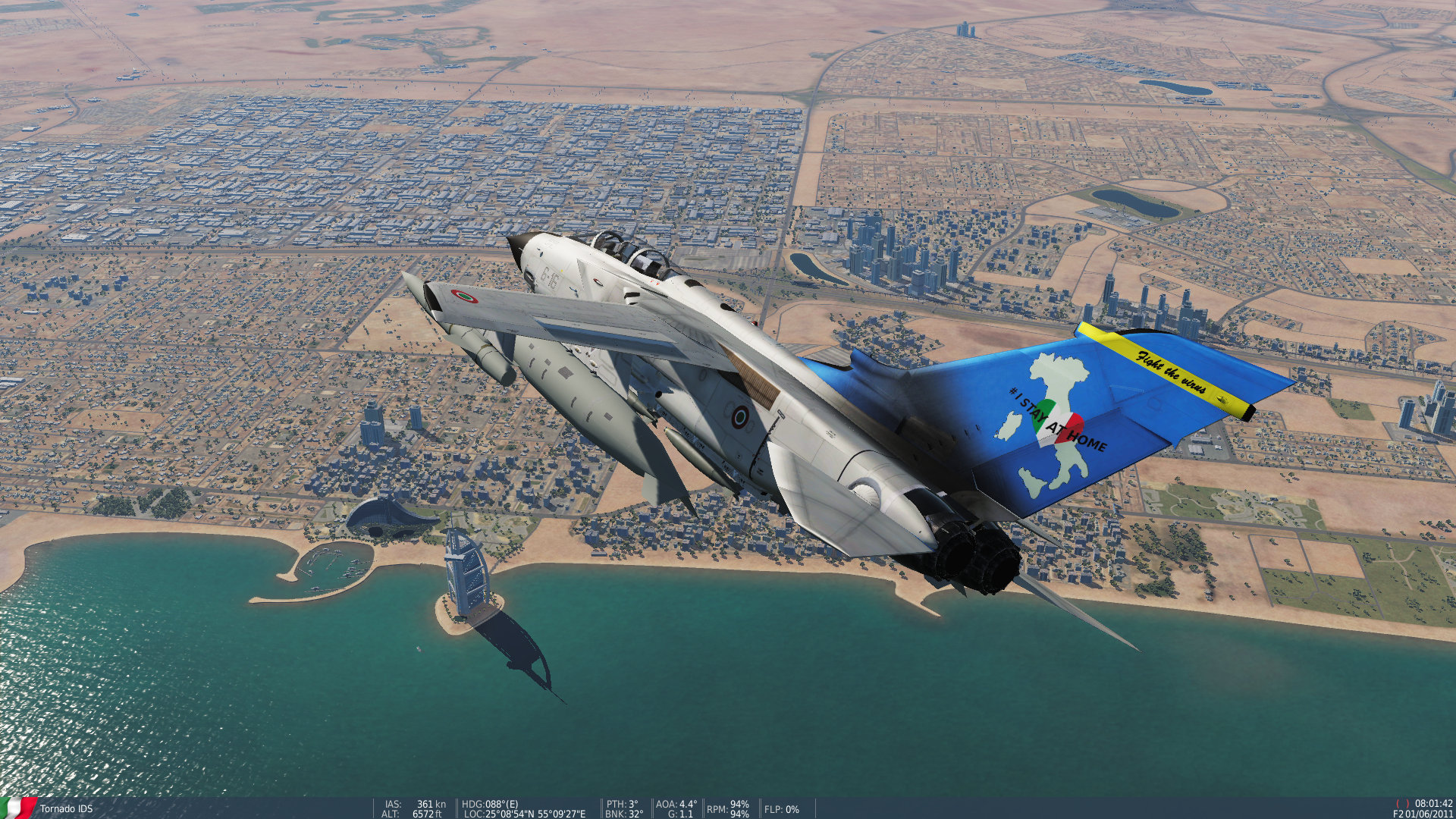 Italian Air Force skin pack for VSN flyable series (#ISTAYATHOME)
