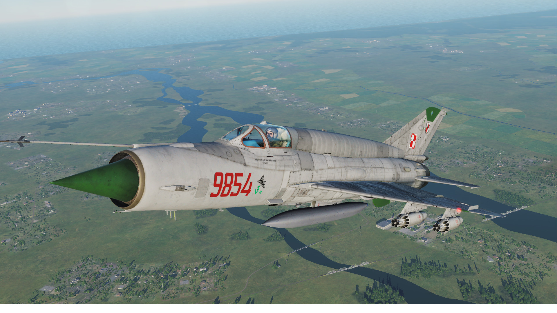 MiG-21bis Polish Air Force 3.elt Poznan