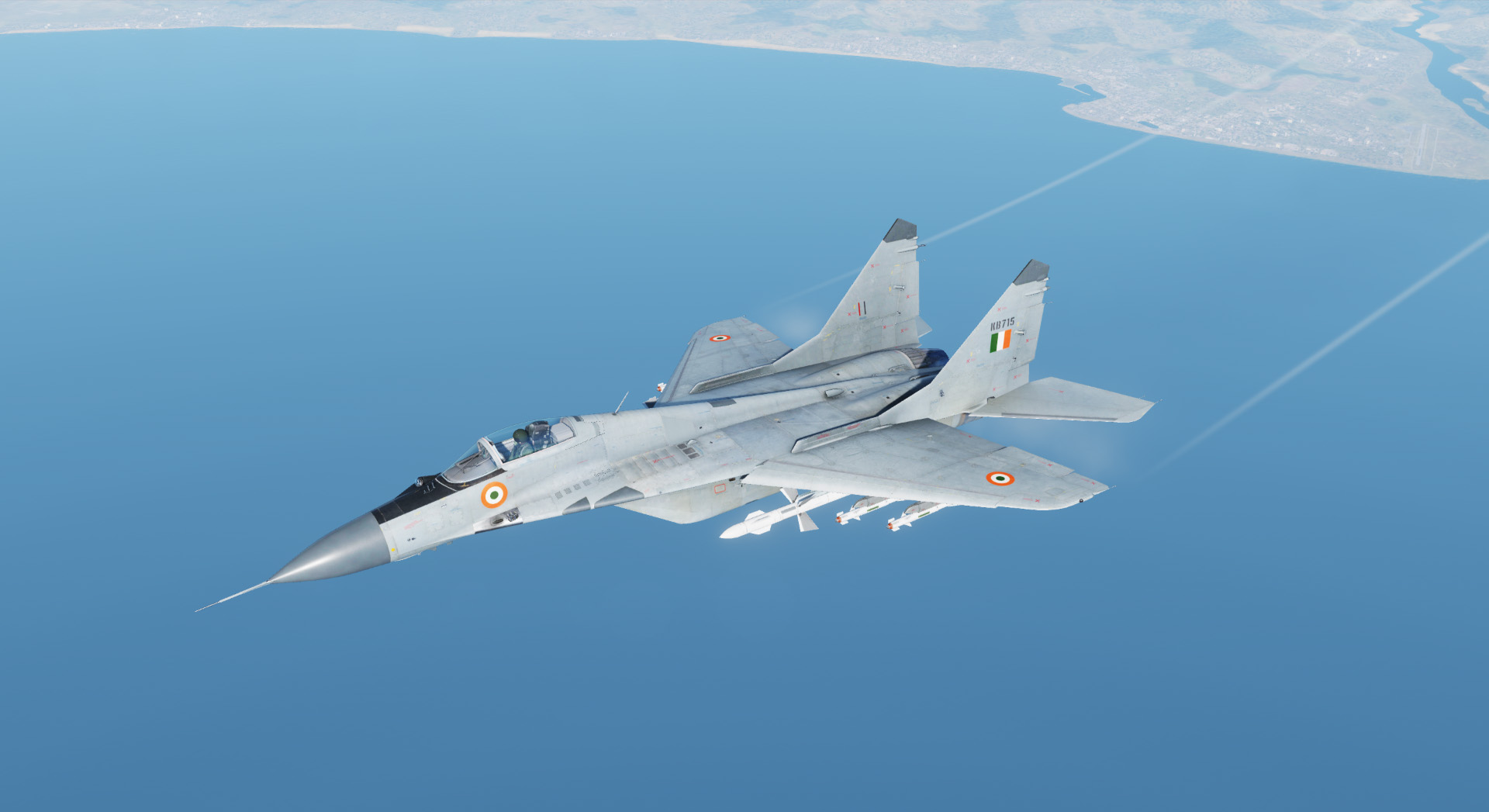 MiG-29a Basic Gray Skin for Indian Air Force