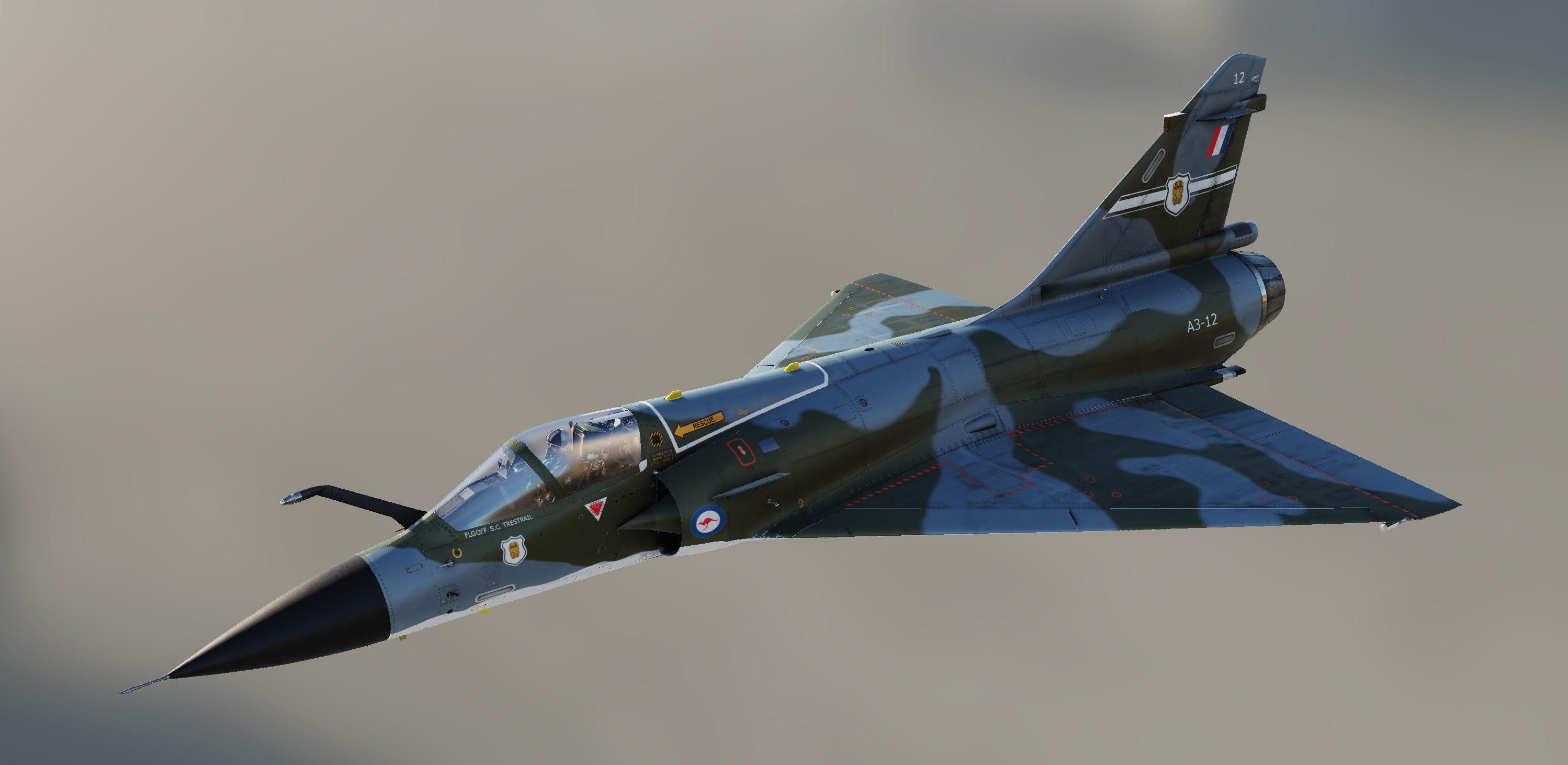 Mirage 2000-C RAAF 77 SQN (Fictional) A3-12