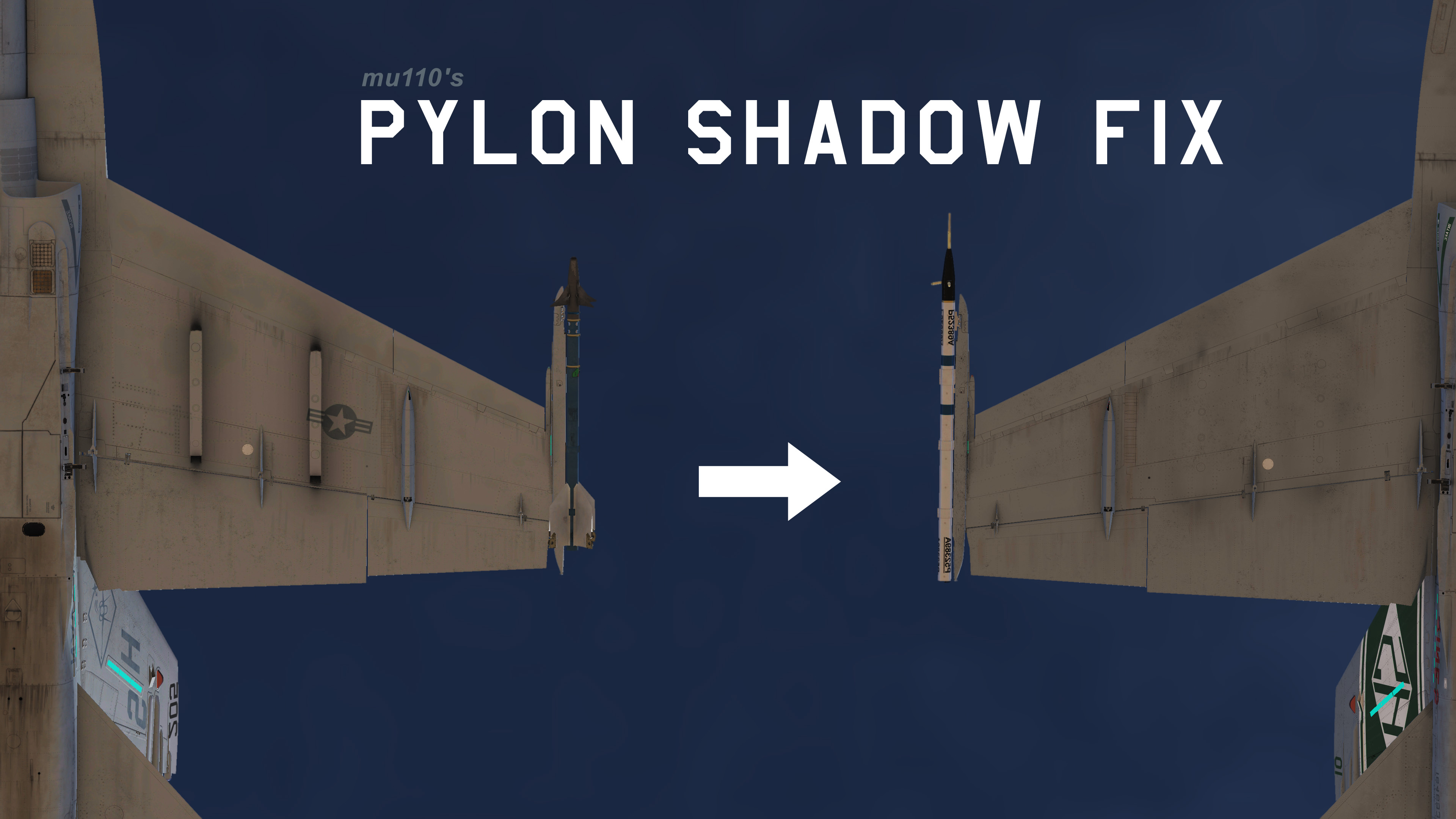 F/A-18C Pylon Shadow Texture Fix