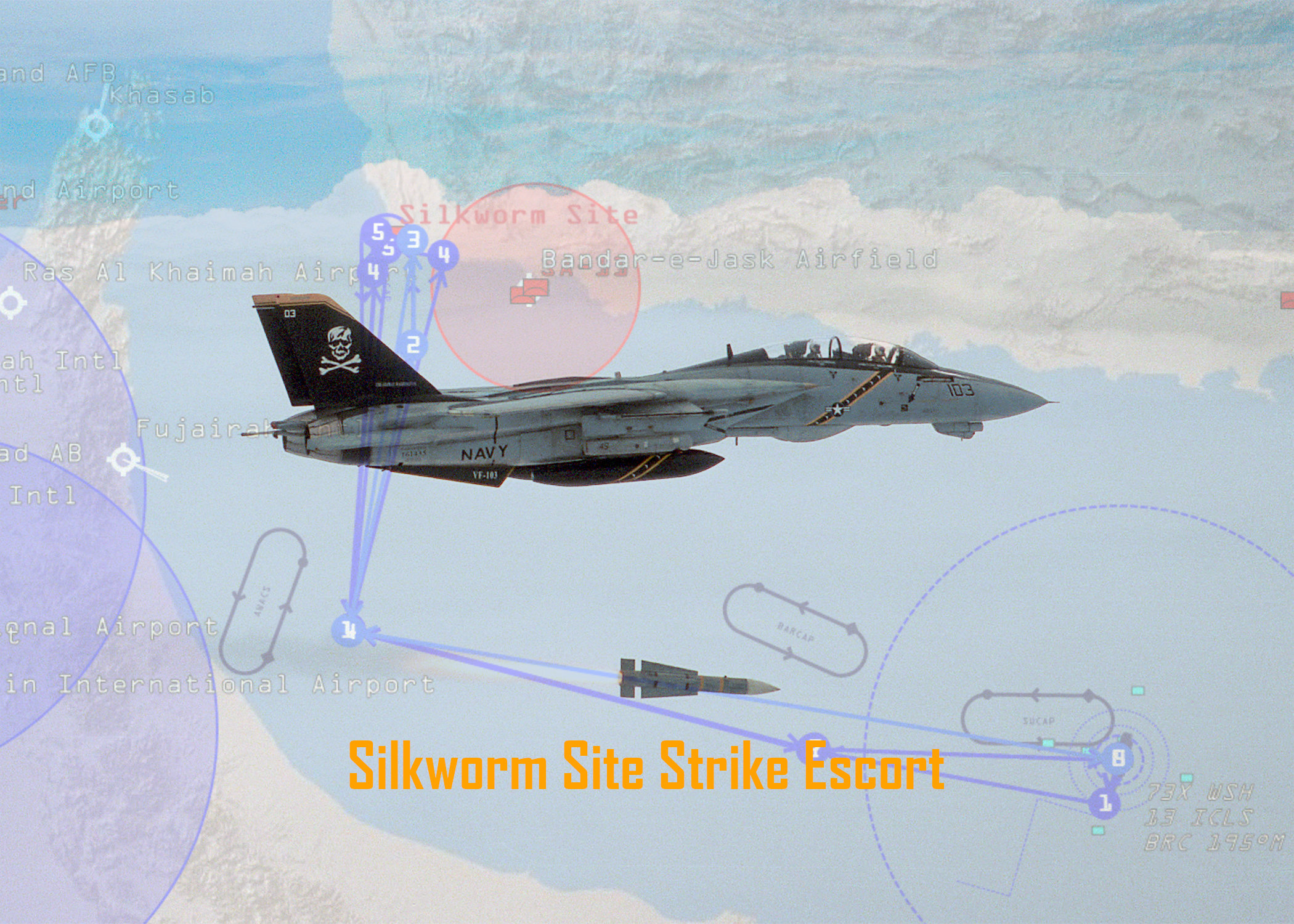 VF-103 F-14B Silkworm Site Strike Escort Mission