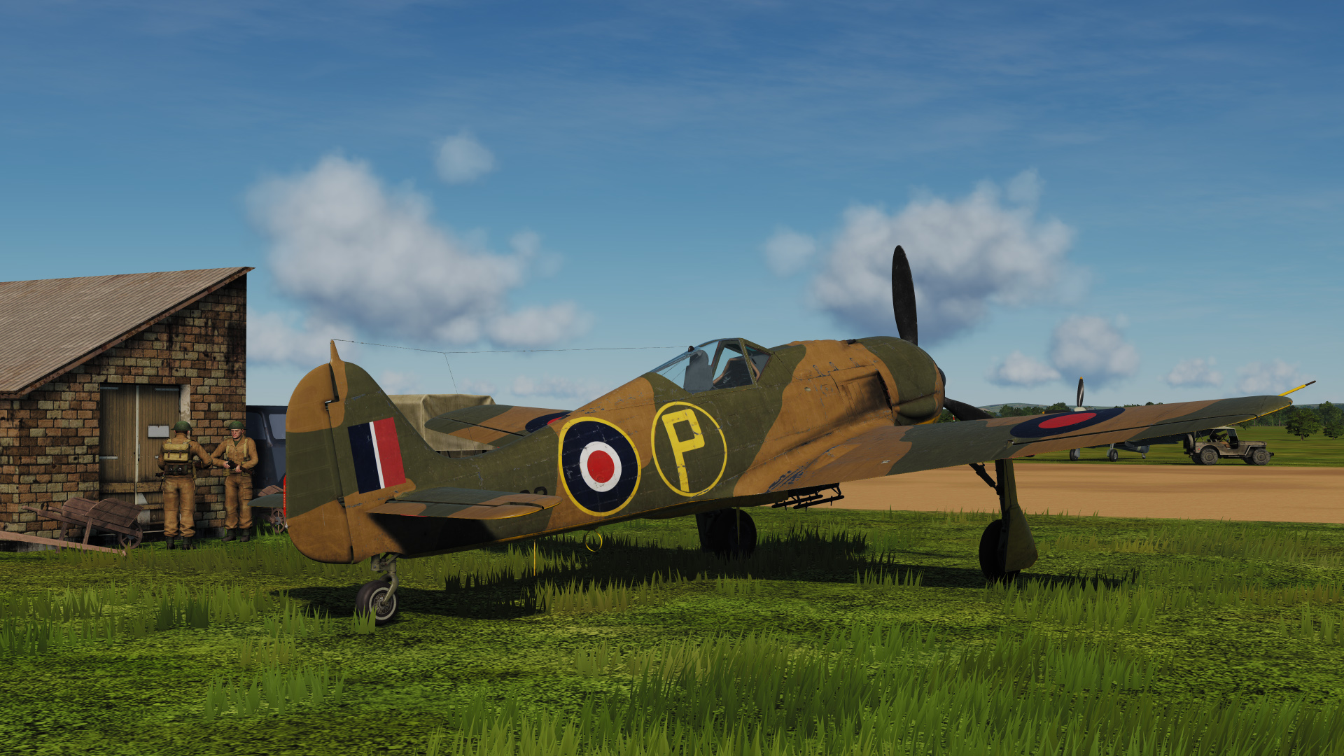 No. 1426 Flight Royal Air Force captured FW190 No. PE882, Dark Earth Camo