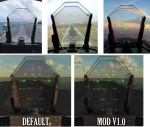 DCS 2.5.2  - F/A-18C Hornet Lot 20 Less tinted HUD glass