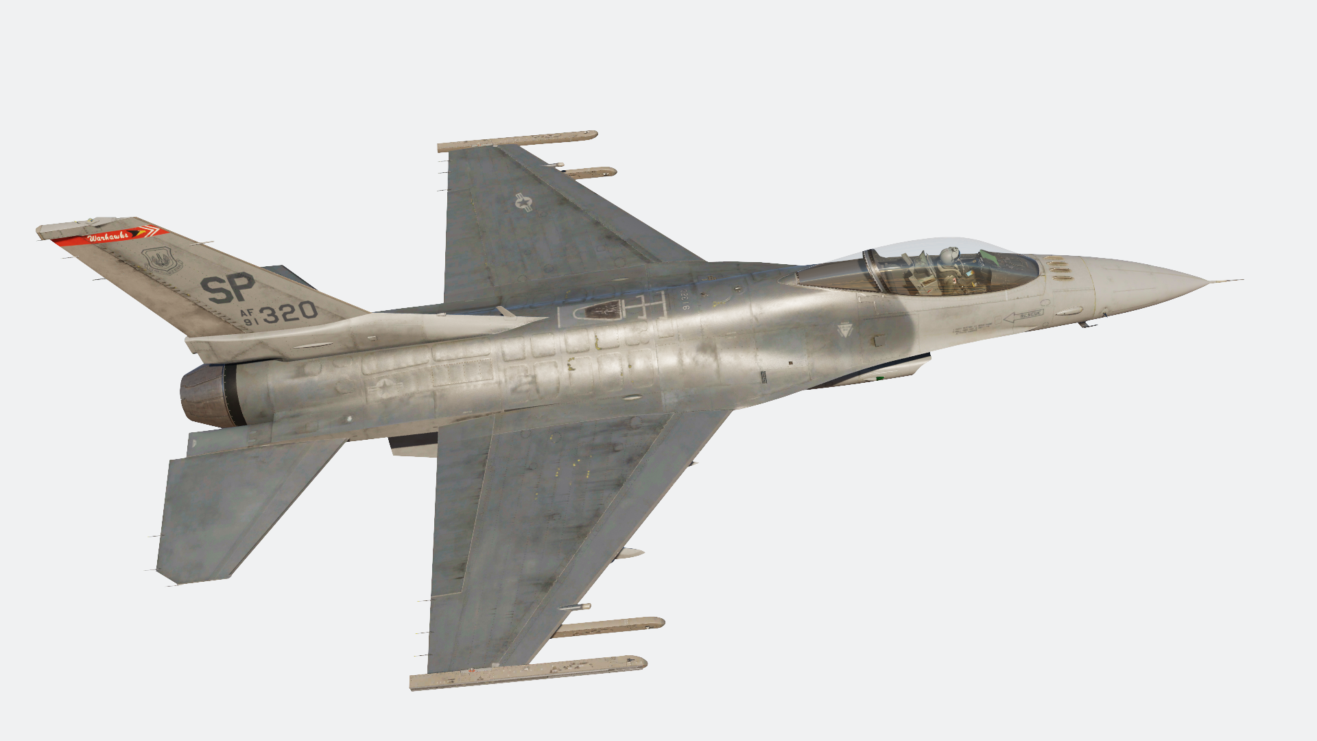 F-16C 480th Fighter Squadron Spangdahlem Weathered