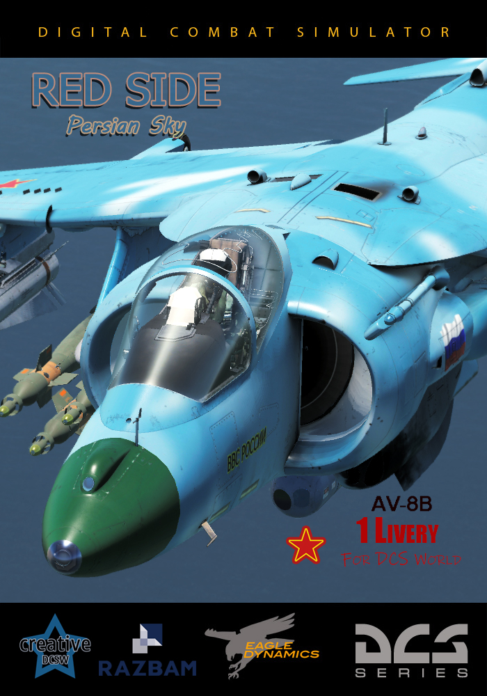AV-8BN Skin RED SIDE Persian Sky