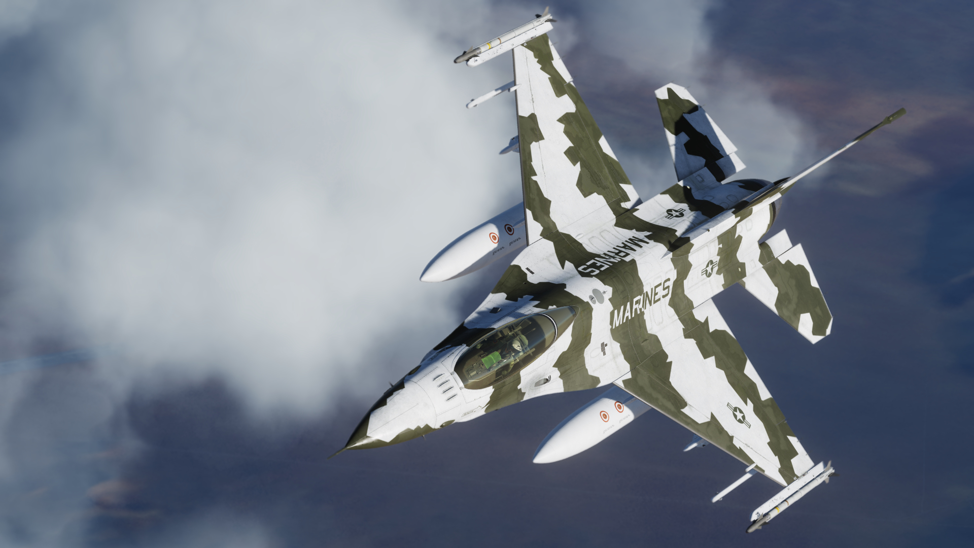 F-16N Splinter Camo - US Navy Fighter Weapons School 91'-92'