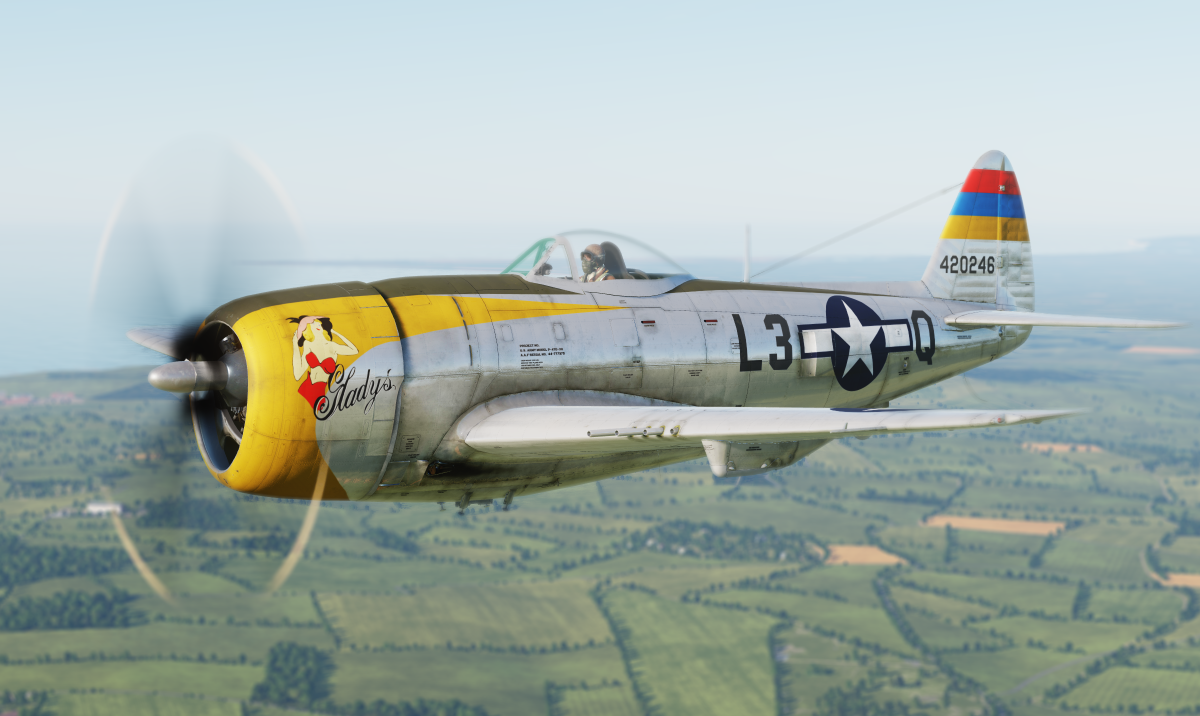 """Gladys"" 512 Fighter Squadron, 406th Fighter Group, 44-20246, L3-Q Nordholz, 1945"