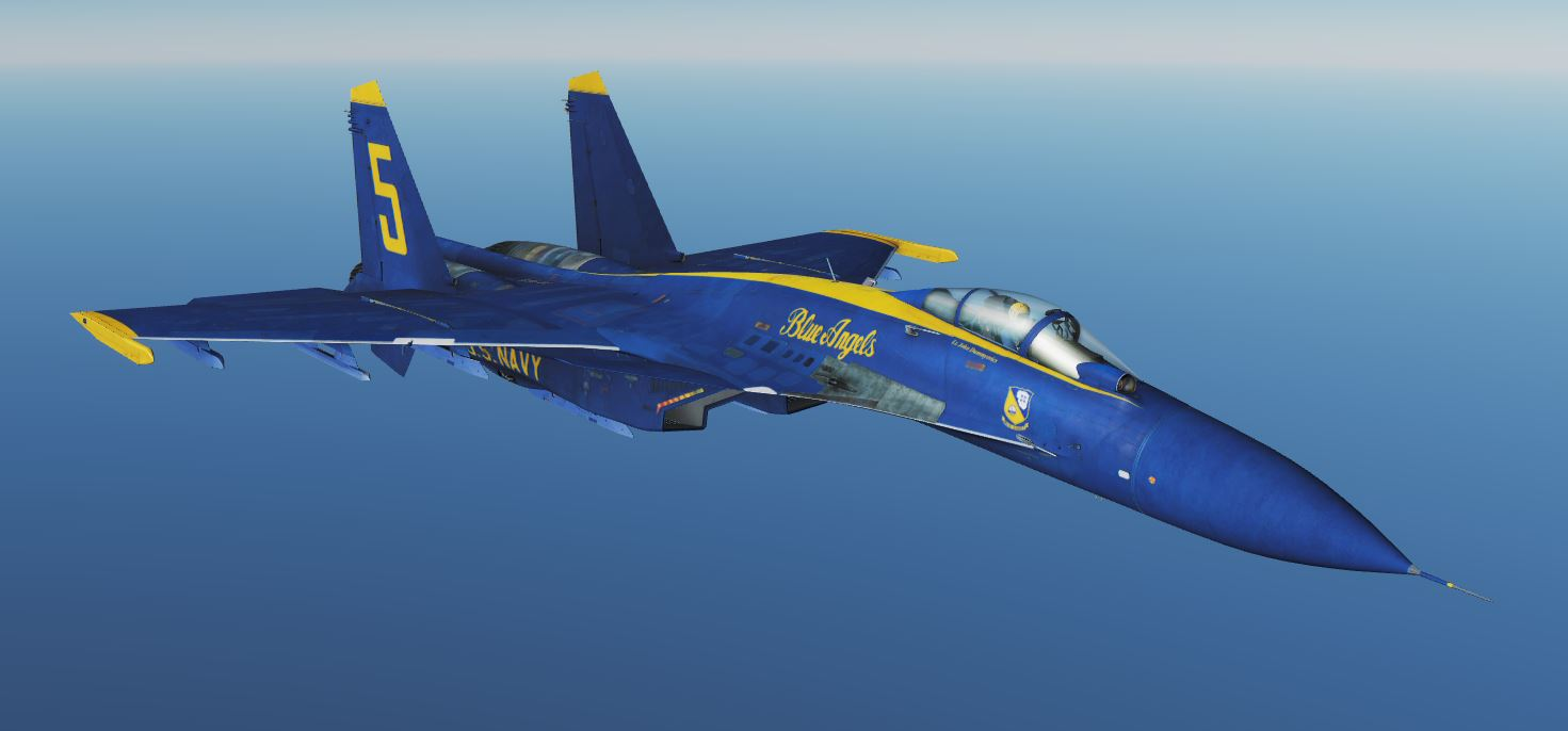 Blue Angels tribute for SU-33