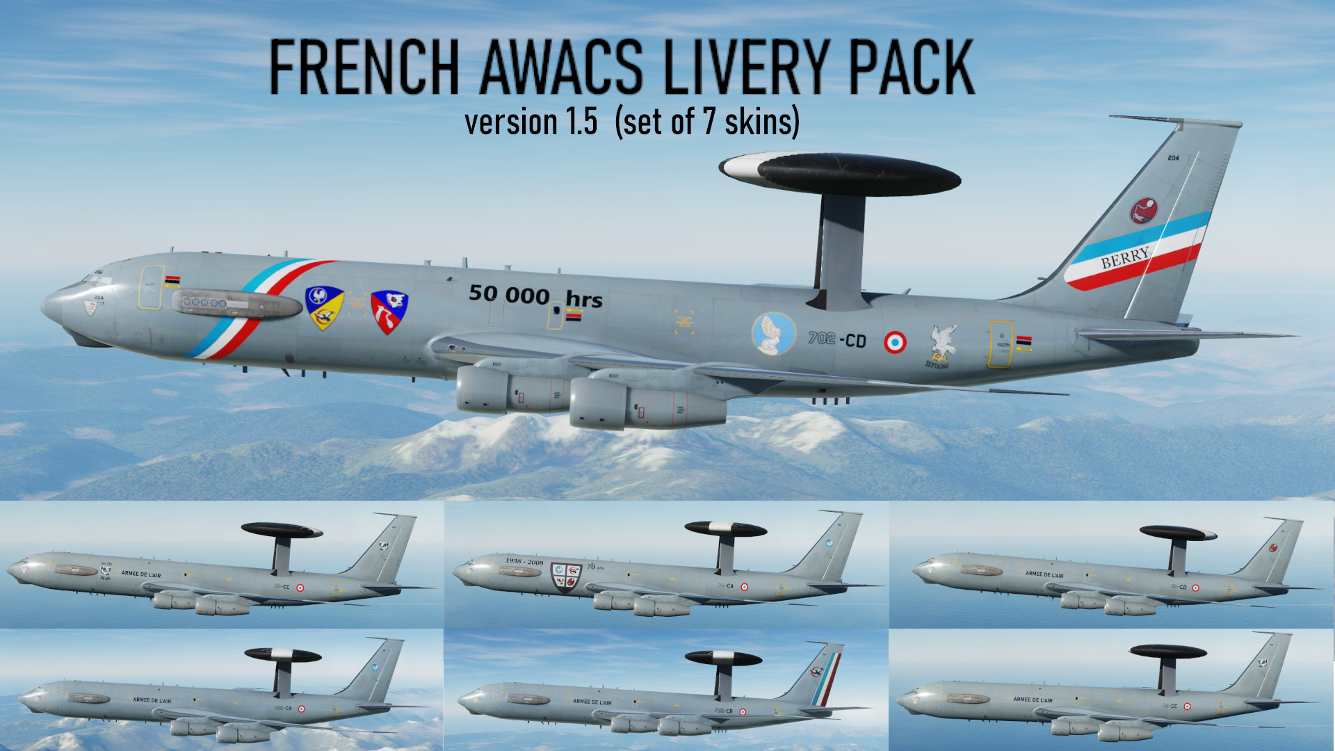 E-3 French AWACS Livery Pack
