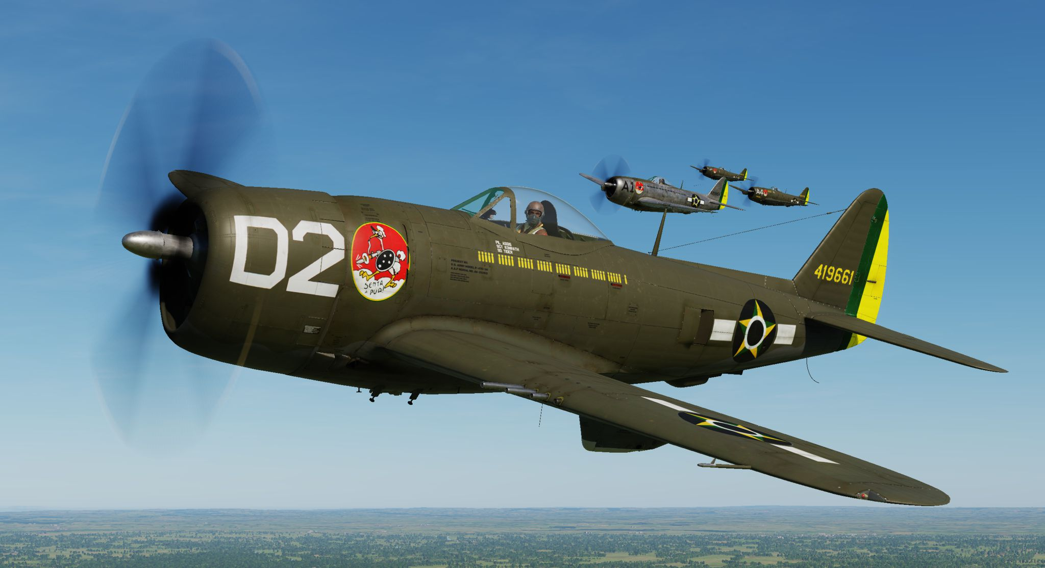 P-47D - 1st Brazilian Ftr Sq-Jambock D2 - 1st Lt. Assis (update vs 2.2)