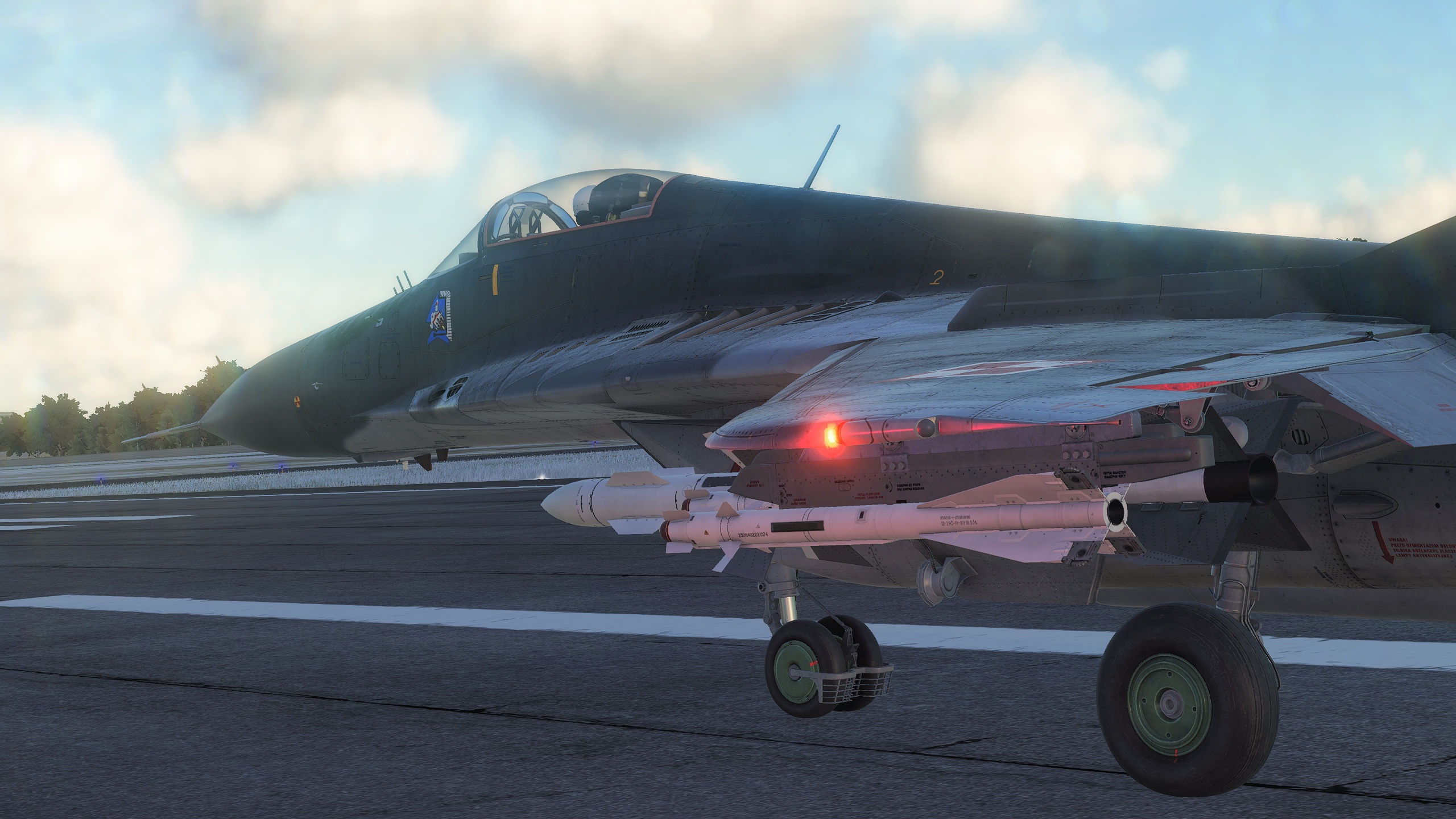 MiG-29 Realistic navigation lights glow