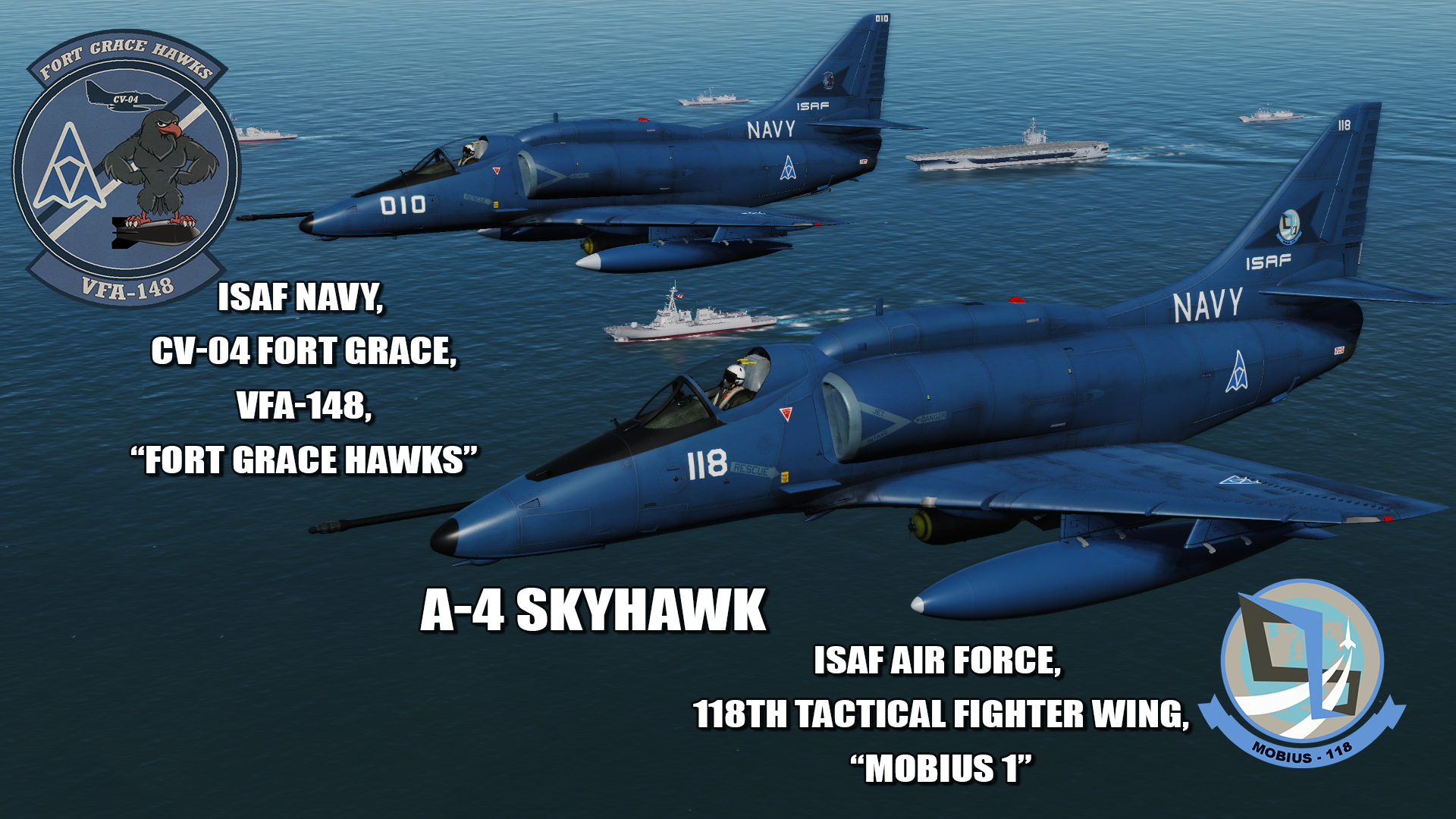 Ace Combat - ISAF Navy and Mobius One A-4 Skyhawk