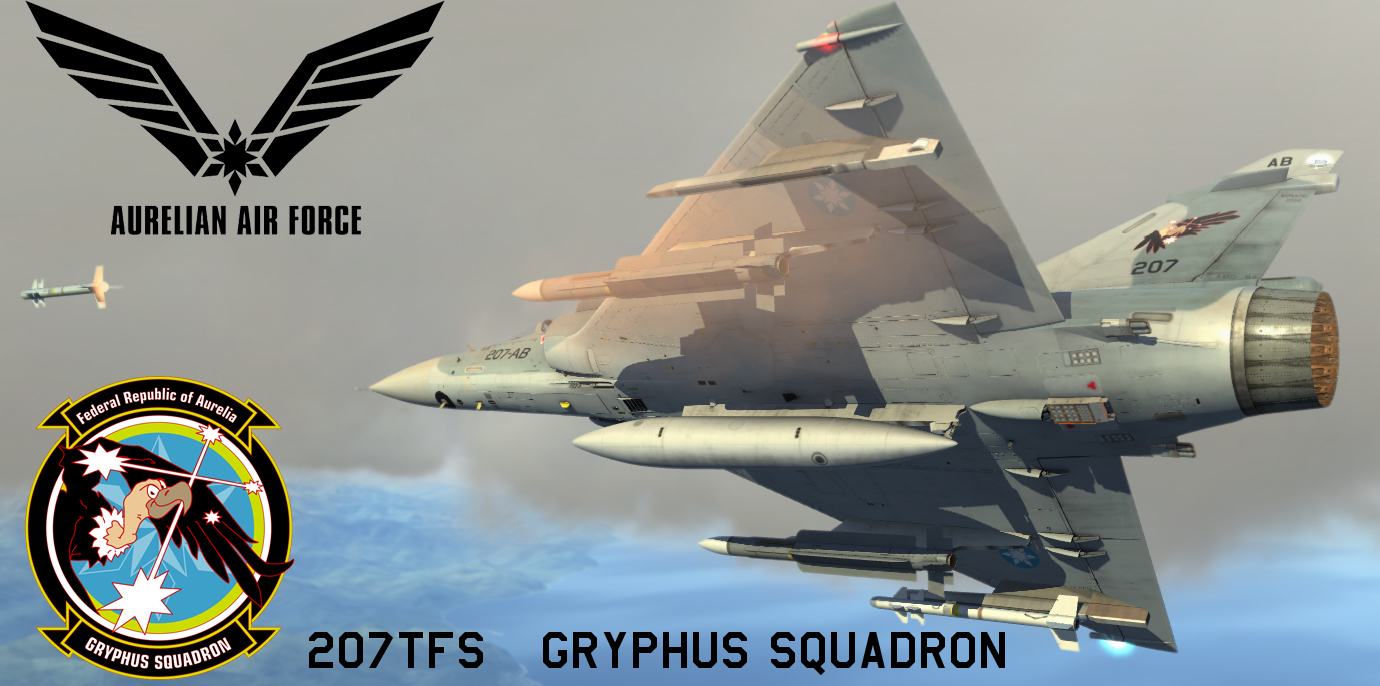 "Mirage 2000 AAF 207th Tactical Fighter SQ ""Gryphus "" Skin From Ace Combat X:  Skies of Deception"