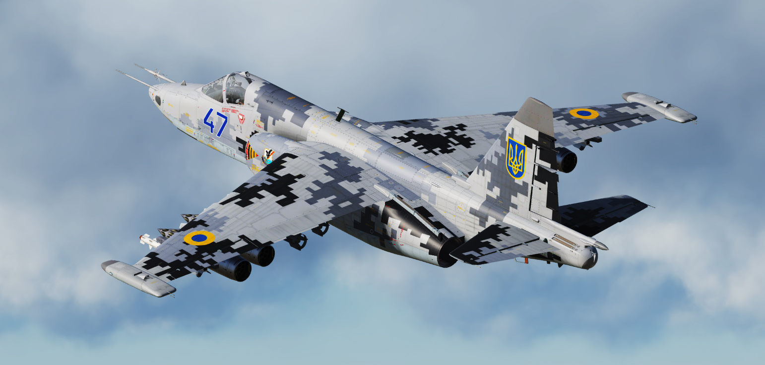Su-25M1 - Digital Camo - 299th Tactical Aviation Brigade UAF