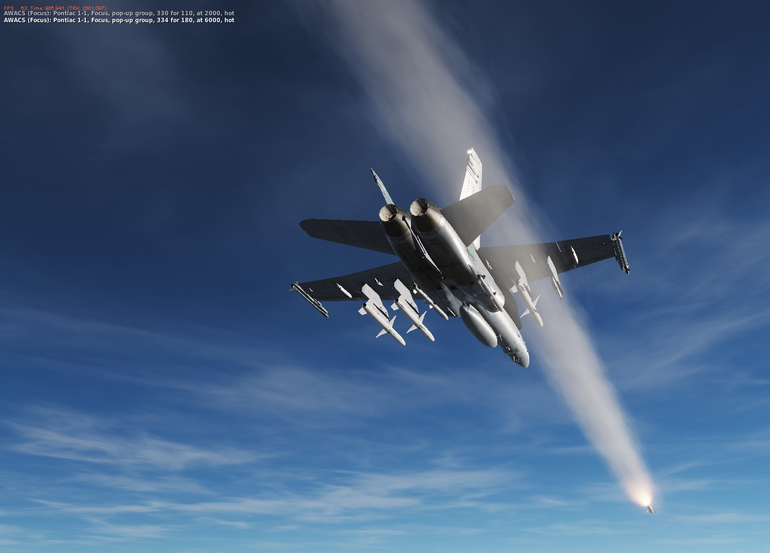 I feel the need for SEAD - a FA18C mission using the HARM AGM-88C missile - Version 3