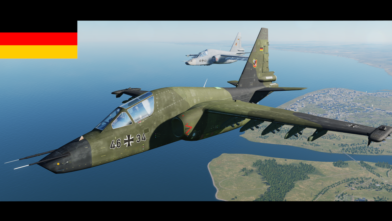 Fictional german airforce Su-25T skins