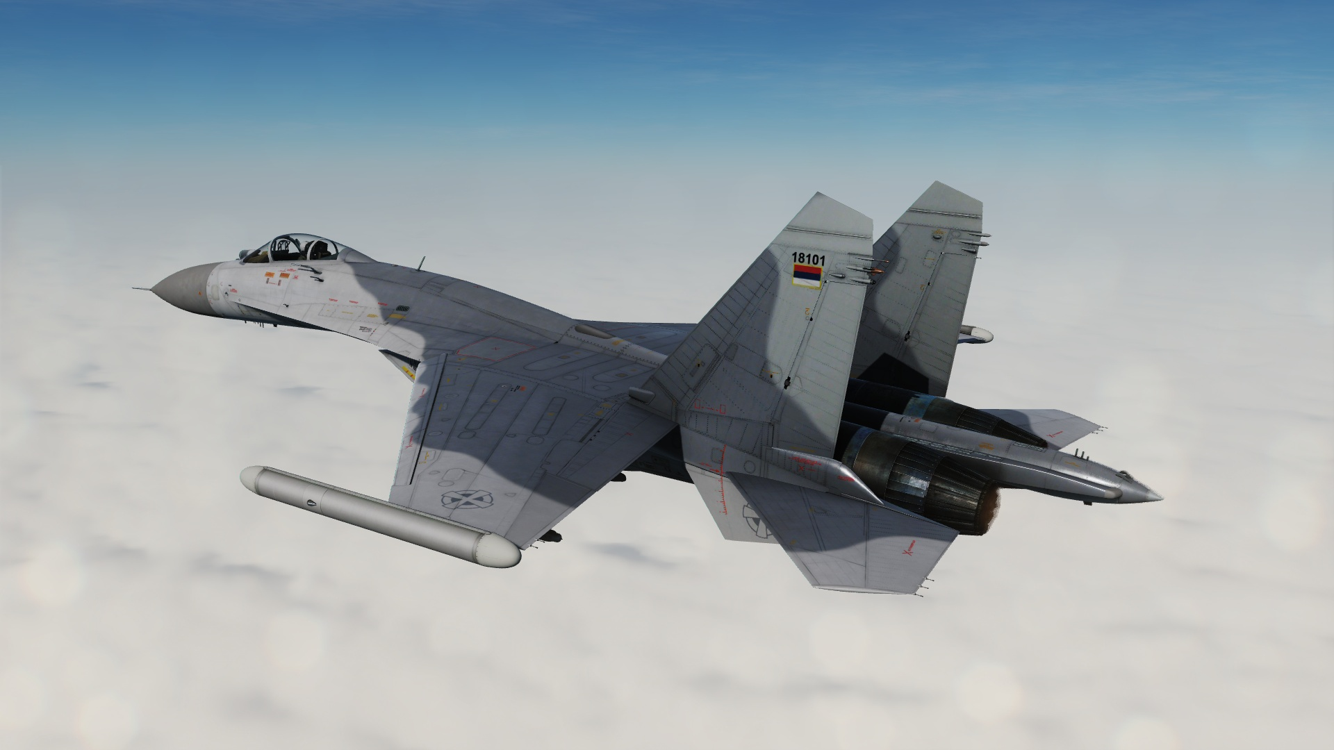 "Fictional Serbian Air Force LAE ""Vitezovi"" Su-27 Low Vis"