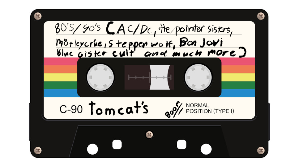 BOOM's tomcat play list (mostly 80's /90's)