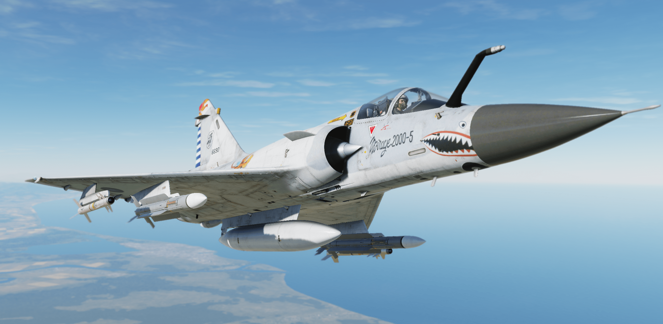 ROCAF Flying Tigers 70th Anniversary of the Victory over Japan skin for Mirage-2000C
