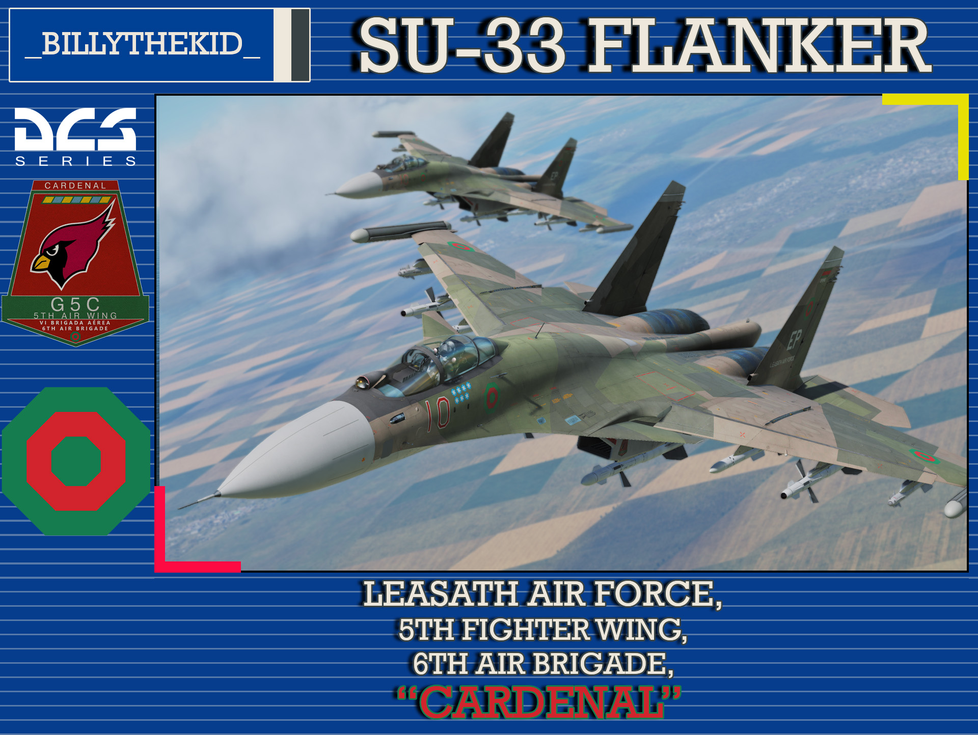 "Ace Combat - Leasath Air Force 5th Fighter Wing, 6th Air Brigade ""Cardenal"" SU-33 Flanker"