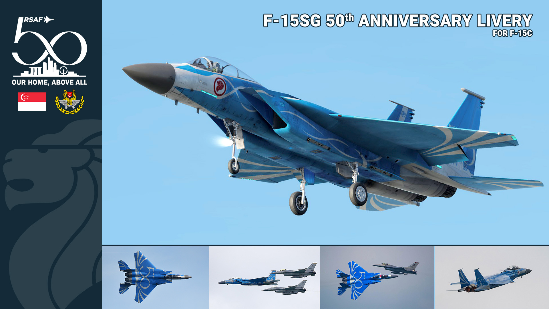 RSAF - 50th Anniversary Republic of Singapore Air Force Special Livery