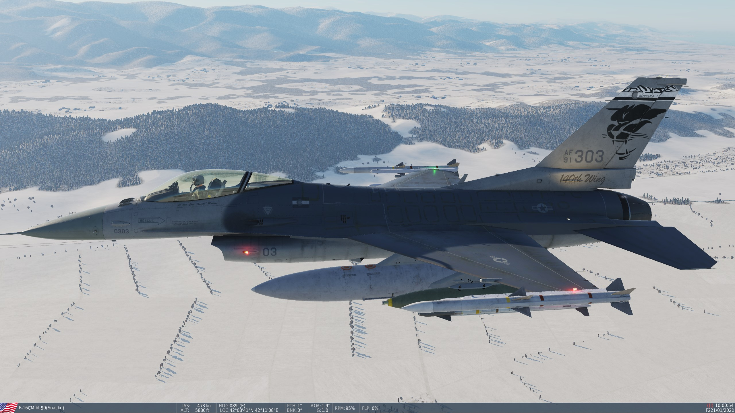 F-16C Livery for COANG 120th Fighter Squadron (Special Cougar Tail)
