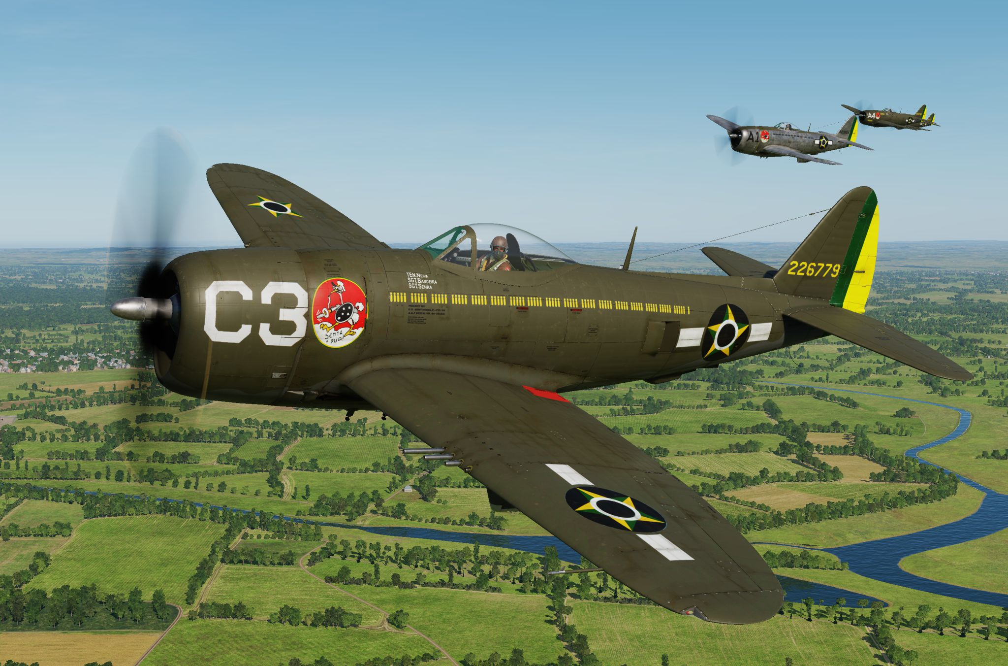 P-47D - 1st Brazilian Ftr Sq-Jambock C3 - 2nd Lt. Neiva (update vs 2.2)