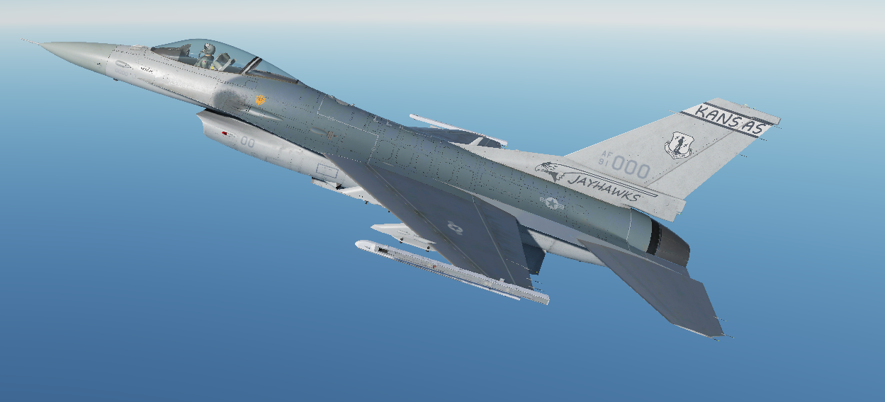 F-16C - 184th Fighter Wing,  Kansas Air National Guard 1990-1994