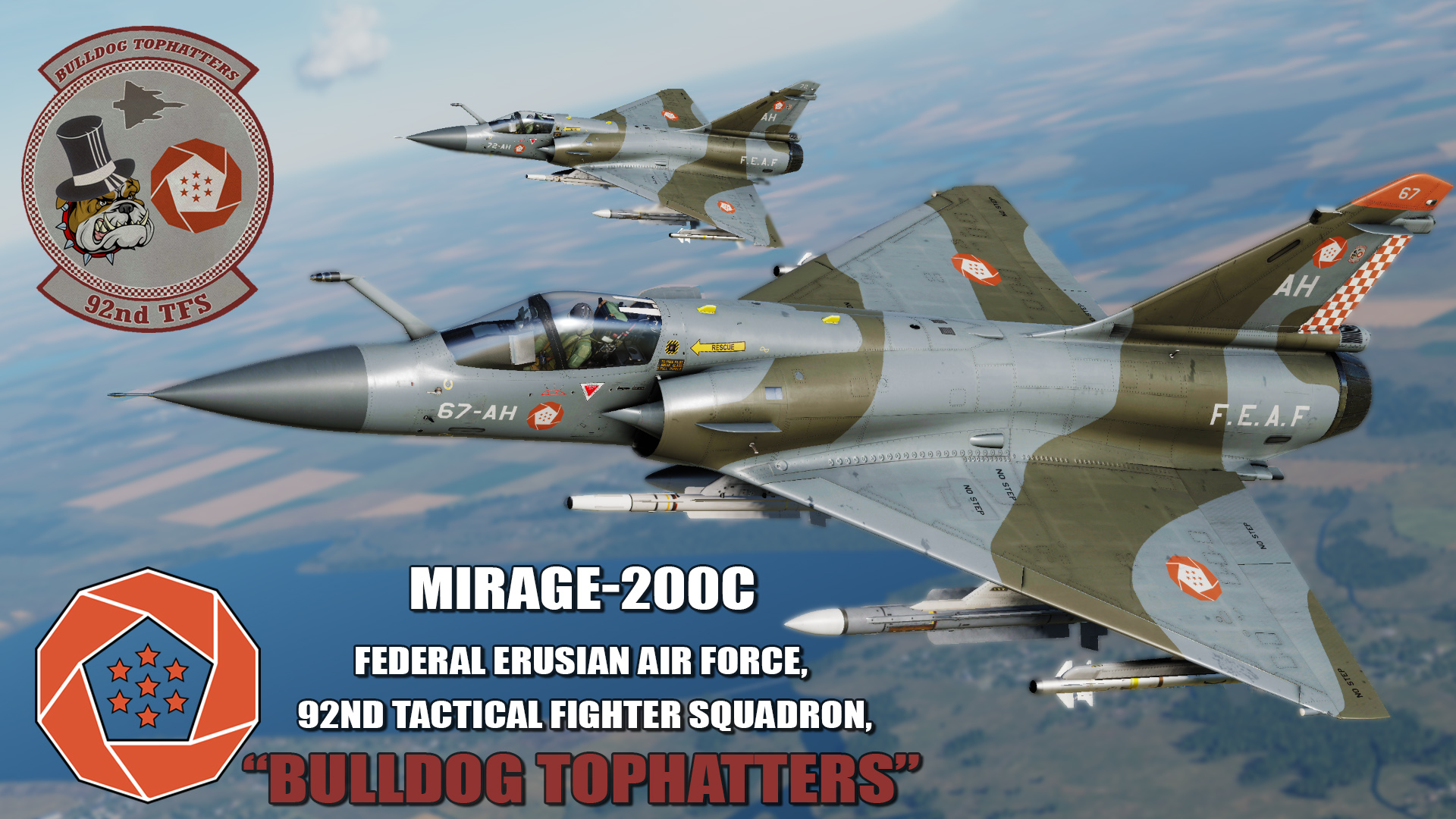 "Ace Combat - Federal Erusian Air Force 92nd TFS ""Bulldog Tophatters"" Mirage 2000C"
